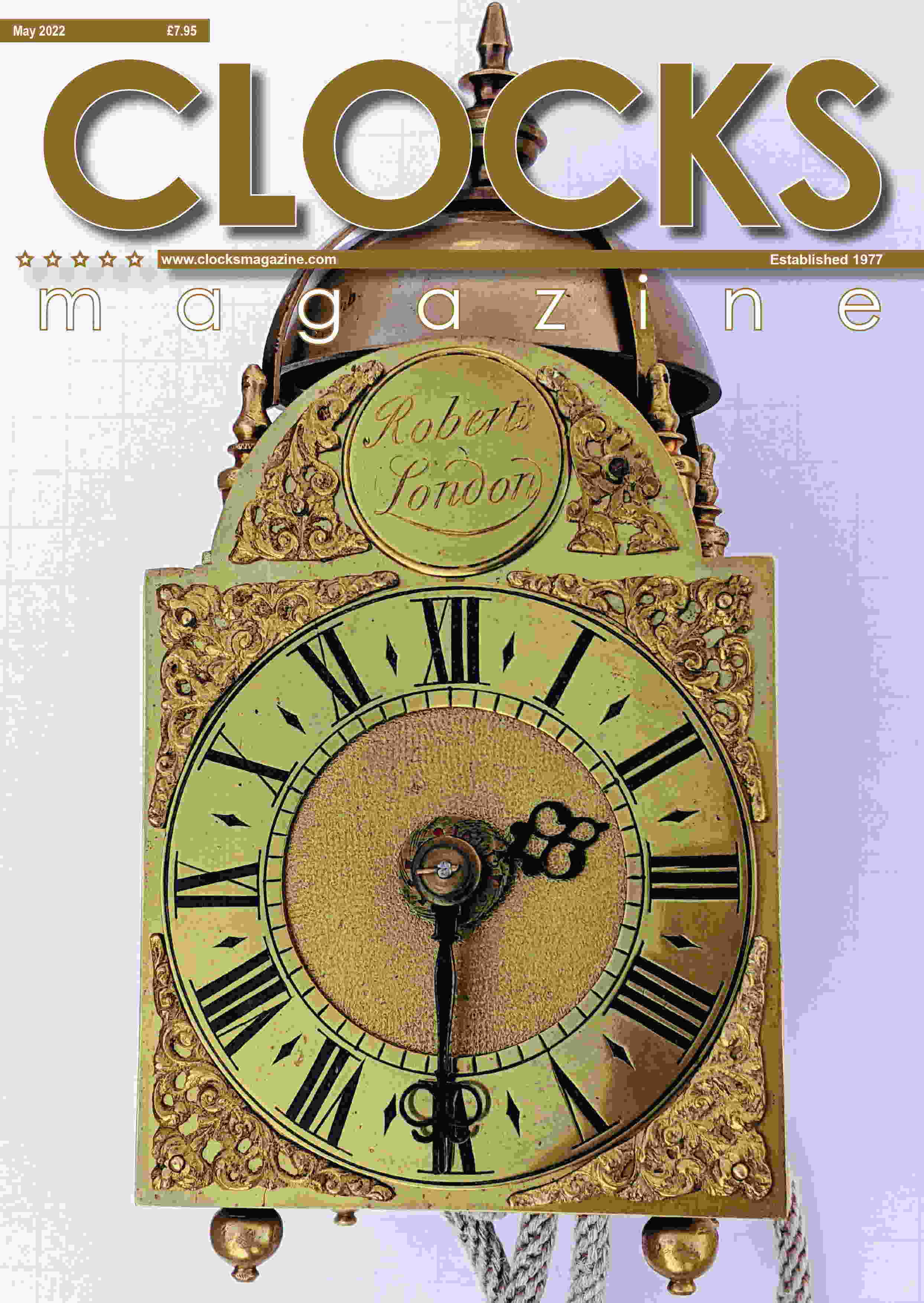 Cover of current issue of Clocks, home page